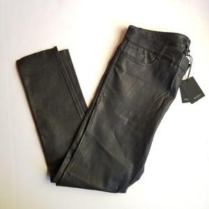 Muubaa London Textured Leather Skinny Pants 10